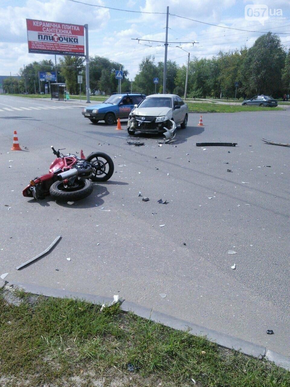 "На Алексеевке ""Nissan"" сбил мотоциклистку. Девушка в больнице (ФОТО), фото-3"