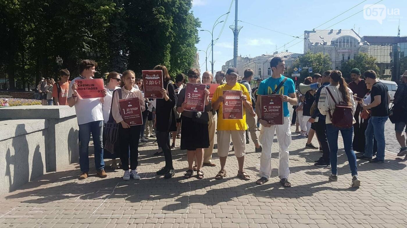 В центре Харькова прошла акция в поддержку заключенных в РФ украинцев, - ФОТО, фото-1