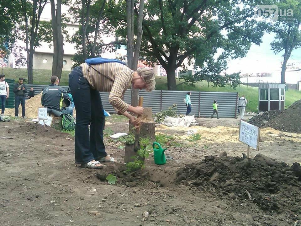 Деревья вместо паркинга: в саду Шевченко прошла экоакция, - ФОТО, фото-5