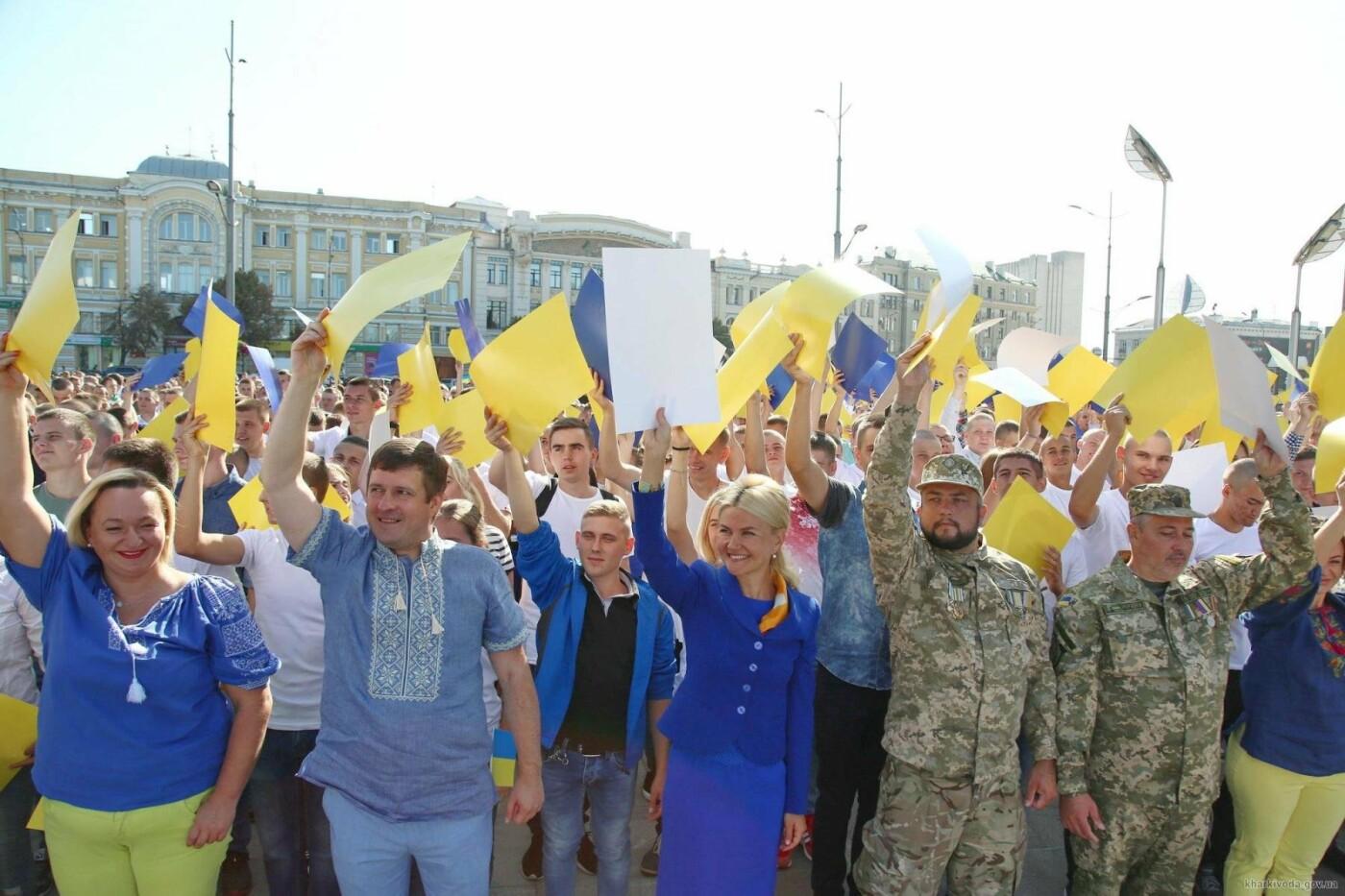 В Харькове отметили День флага масштабным флэшмобом, фото-1
