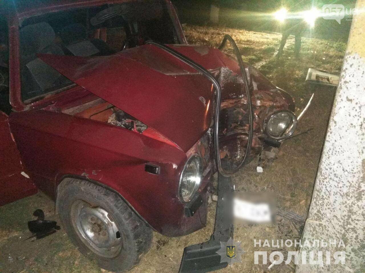 Харьковчанин за рулем «ВАЗ» влетел в электрический столб и умер,- ФОТО, фото-2