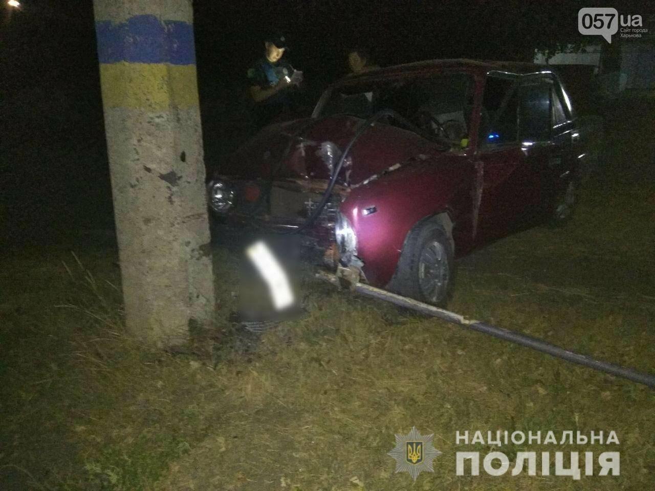 Харьковчанин за рулем «ВАЗ» влетел в электрический столб и умер,- ФОТО, фото-1