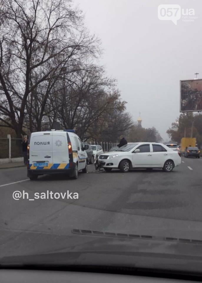 """На Салтовском шоссе """"Geely"""" протаранила машину полиции, - ФОТО, фото-1"""
