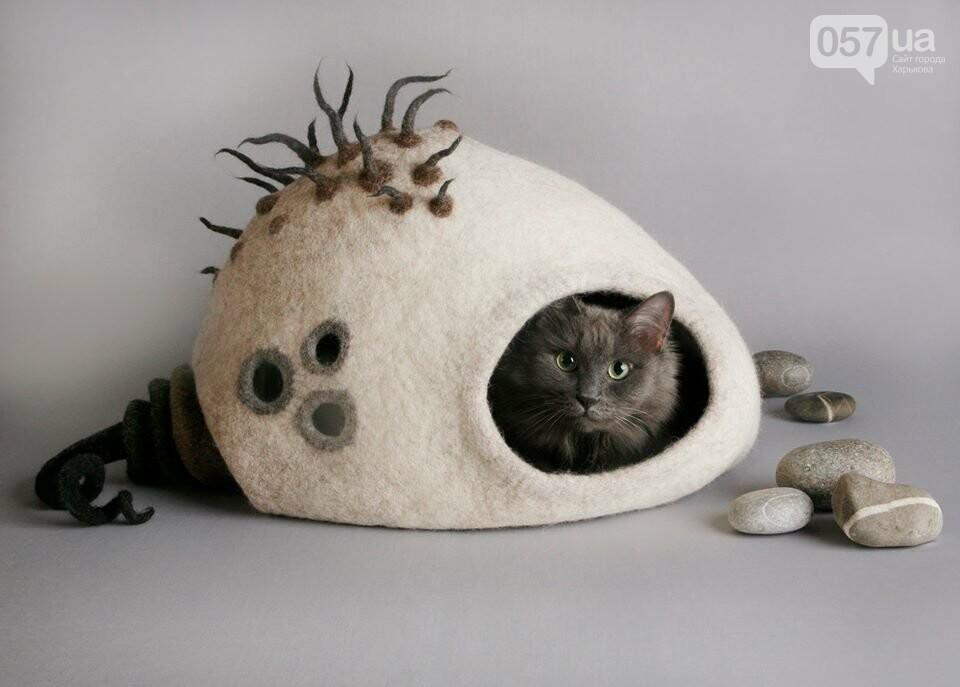 Сказочные домики из шерсти. Харьковчанка создает необычные жилища для котов, - ФОТО, фото-3