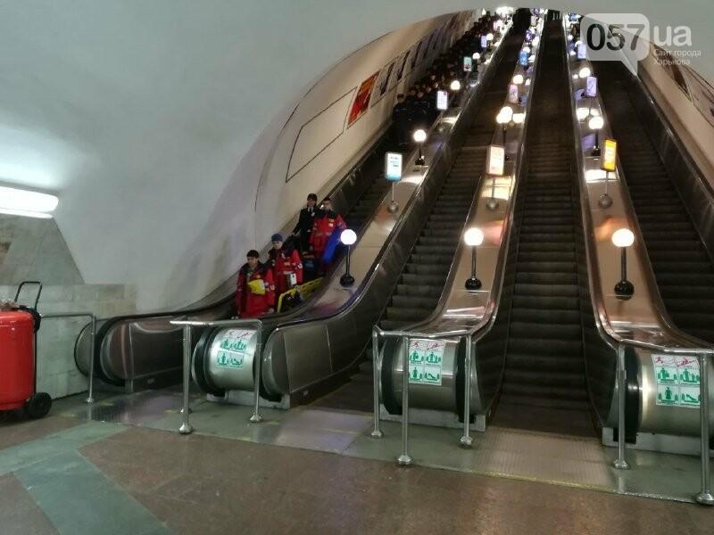 Медпункты, питьевые фонтаны и железные двери: в харьковском метрополитене провели специальные учения, - ФОТО, фото-5