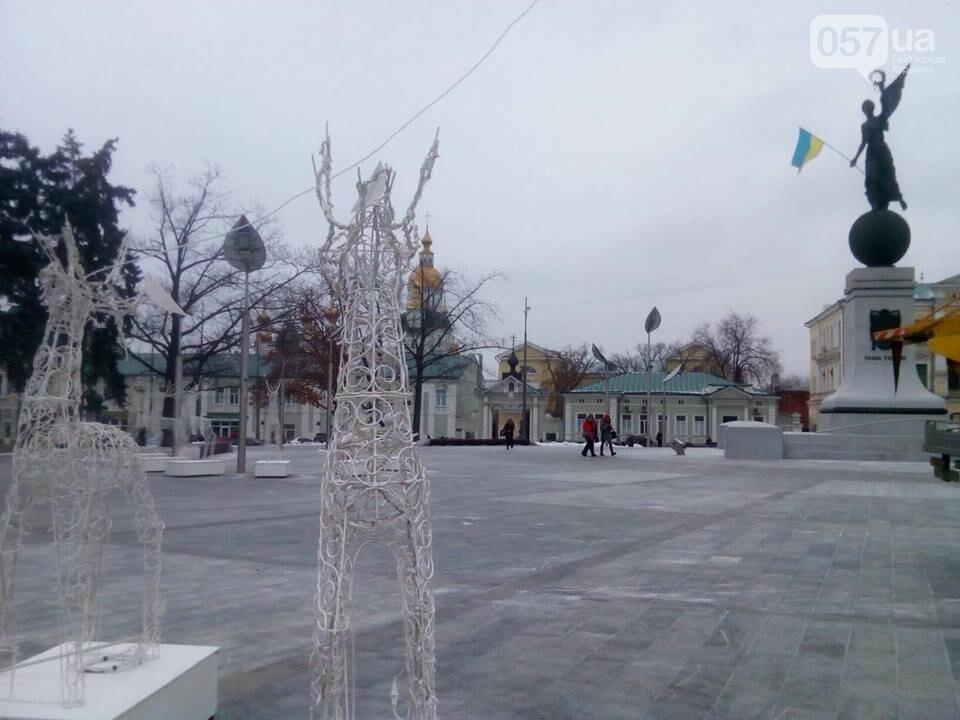 Светящиеся олени и стеклянный «подарок»: в центре Харькова устанавливают новогоднюю инсталляцию, - ФОТО, фото-6