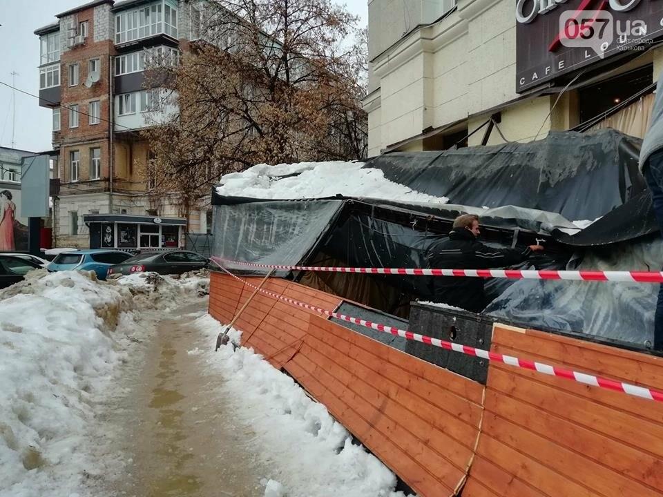В центре Харькова из-за обвала снега рухнула терраса ресторана, - ФОТО, фото-1