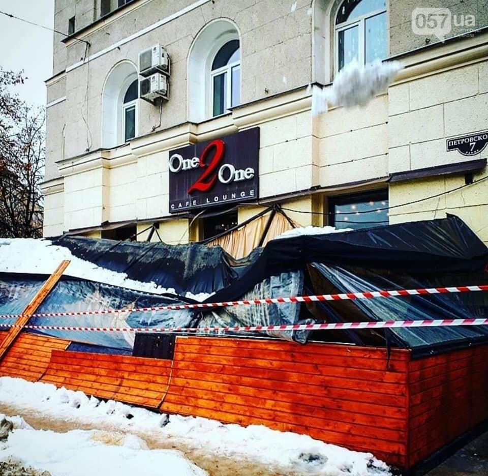 В центре Харькова из-за обвала снега рухнула терраса ресторана, - ФОТО, фото-4