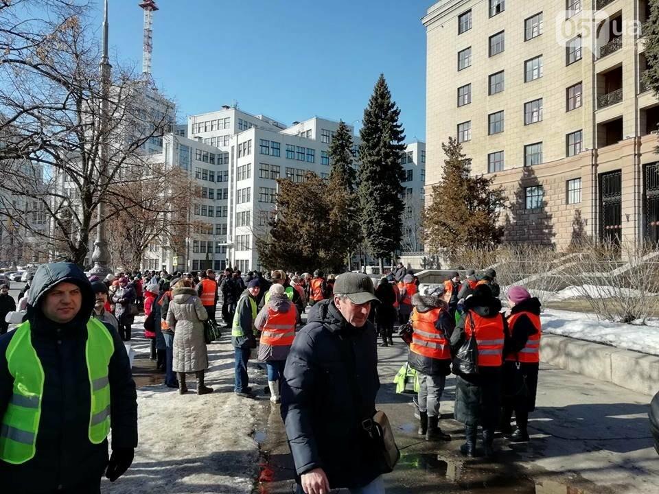 «Транспорт без политики». В Харькове проходит пикет в поддержку подорожания проезда, - ФОТО, фото-8