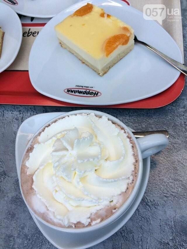 Какао и пирожное в немецком кафе за 4,5 евро