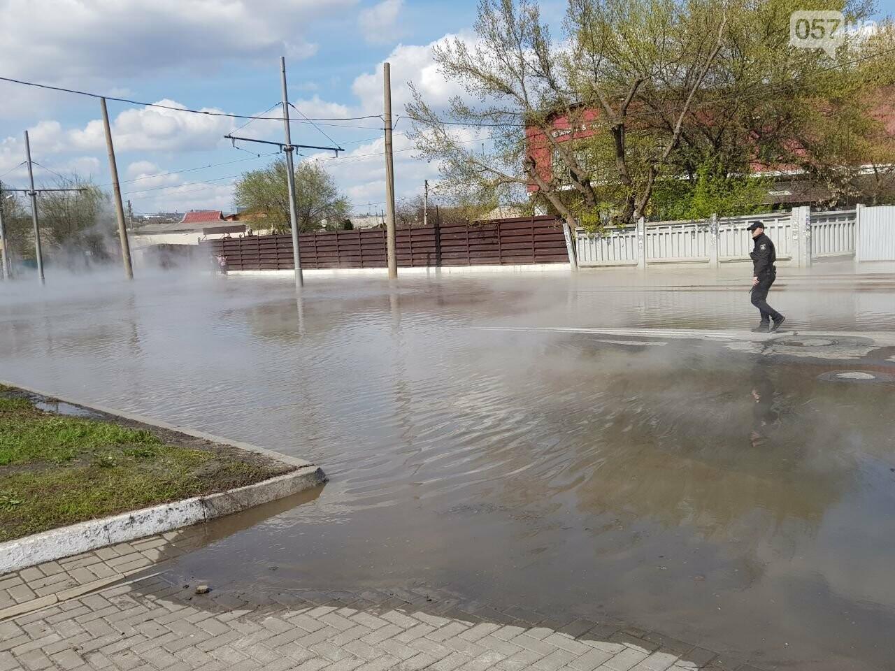 На Киевской часть дороги залило кипятком, - ФОТО, фото-4