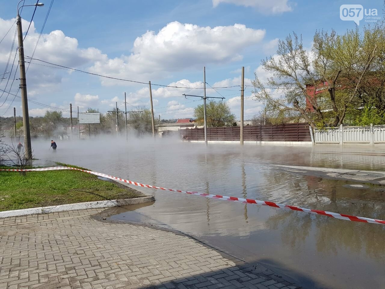 На Киевской часть дороги залило кипятком, - ФОТО, фото-8