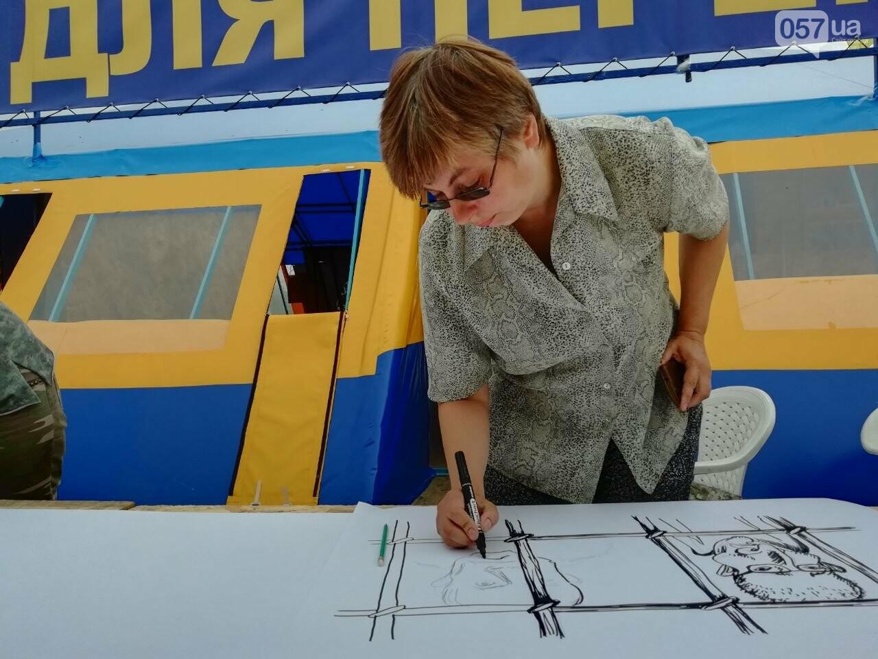 Нарисуй претензию к Кернесу: на площади Свободы организовали акцию, - ФОТО, фото-4