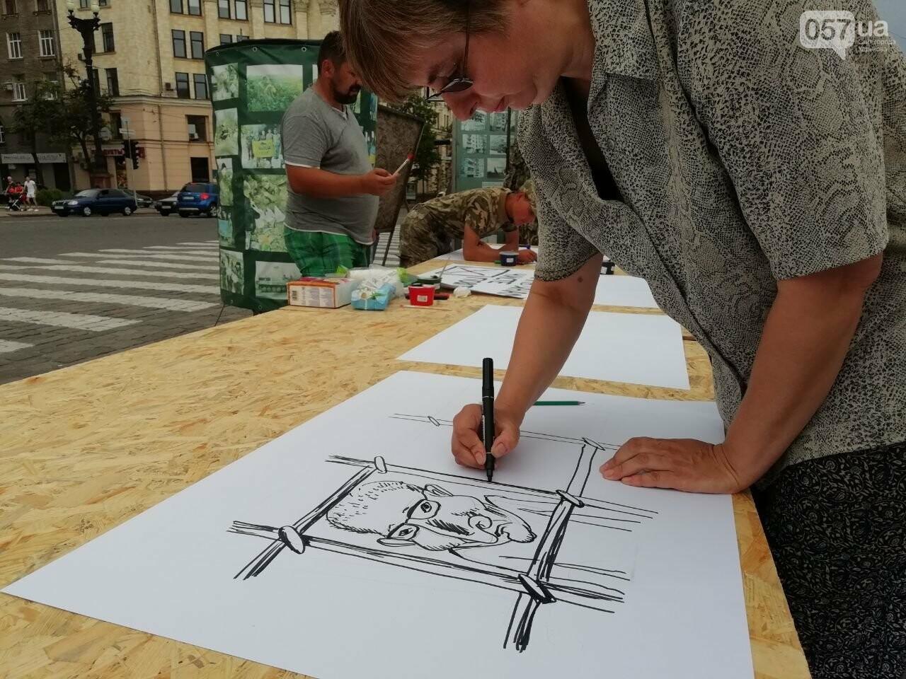 Нарисуй претензию к Кернесу: на площади Свободы организовали акцию, - ФОТО, фото-3
