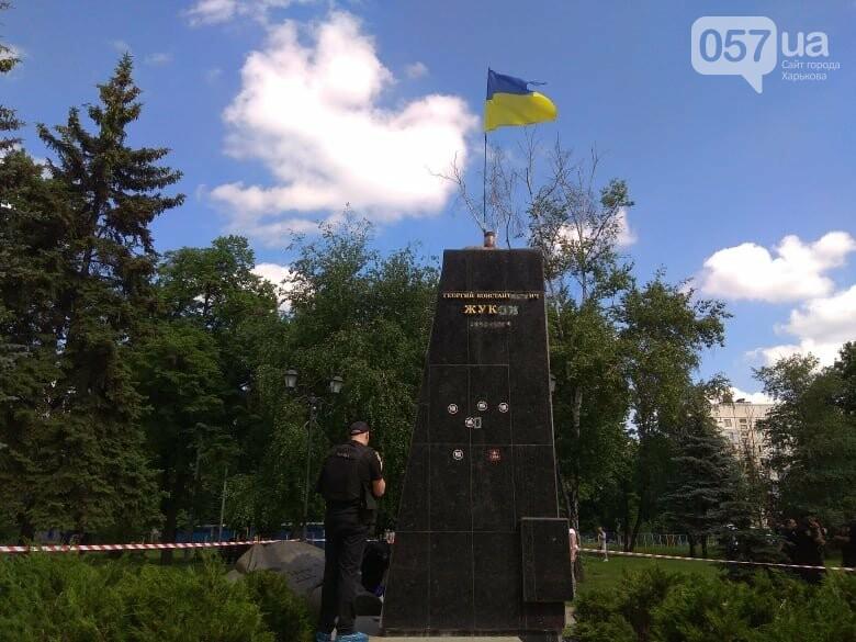 В Харькове снесли бюст маршала Жукова, - ФОТО, фото-3