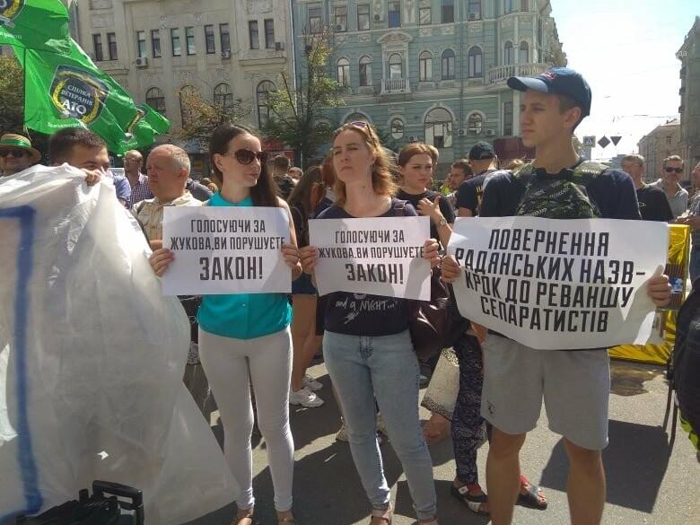 Возле мэрии проходит пикет против переименования проспекта Григоренко, - ФОТО, фото-7