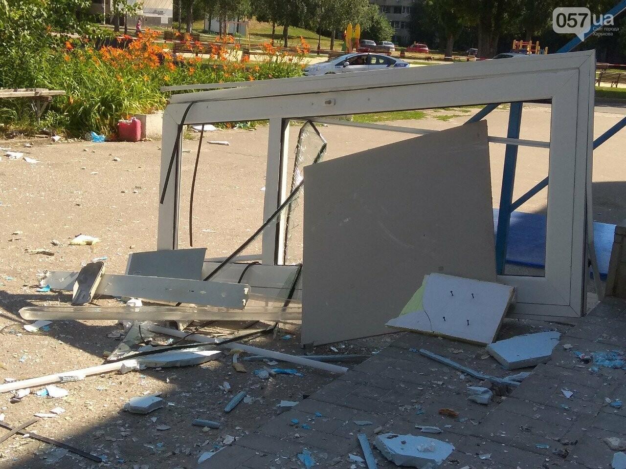 Взрыв банкомата на Алексеевке: неизвестные нанесли магазину убыток на 200 тысяч гривен, - ВИДЕО, фото-11