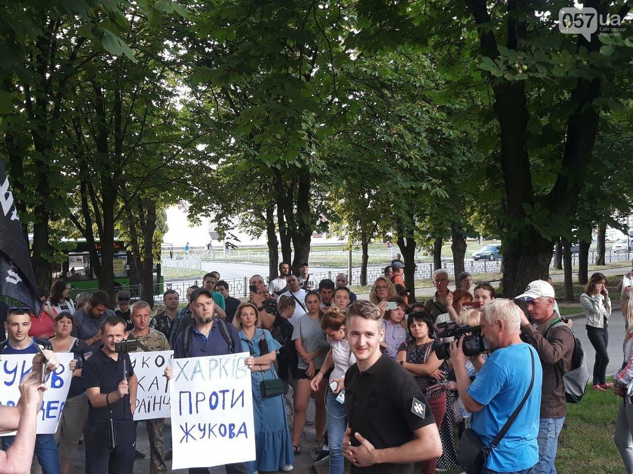 «Ветры сами снесут памятник Жукову»: в Харькове активисты протестовали против восстановления бюста, - ФОТО, фото-6