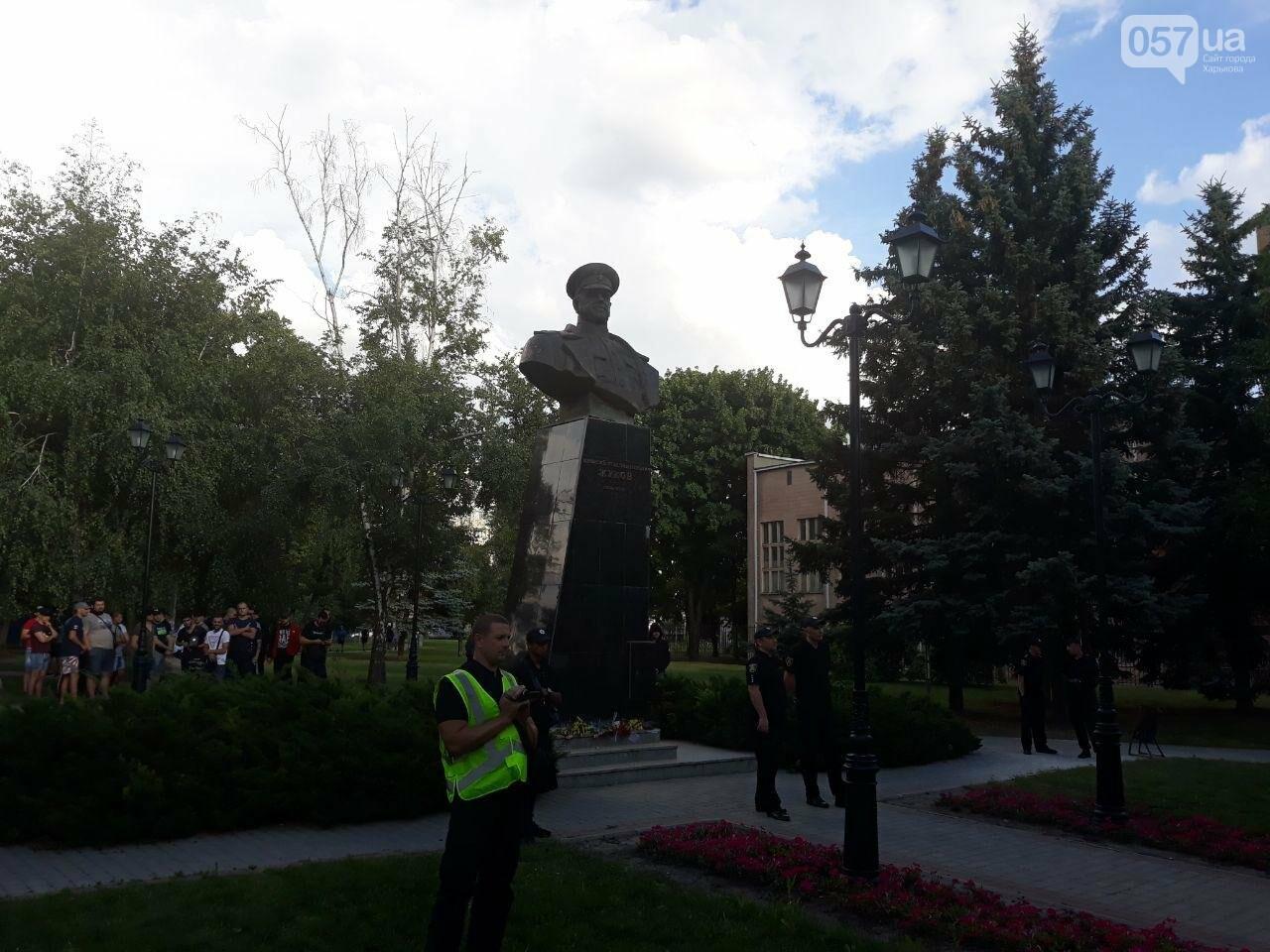 «Ветры сами снесут памятник Жукову»: в Харькове активисты протестовали против восстановления бюста, - ФОТО, фото-7
