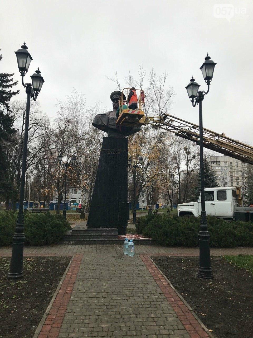 В Харькове неизвестные облили краской памятник Жукову, - ФОТО, фото-7