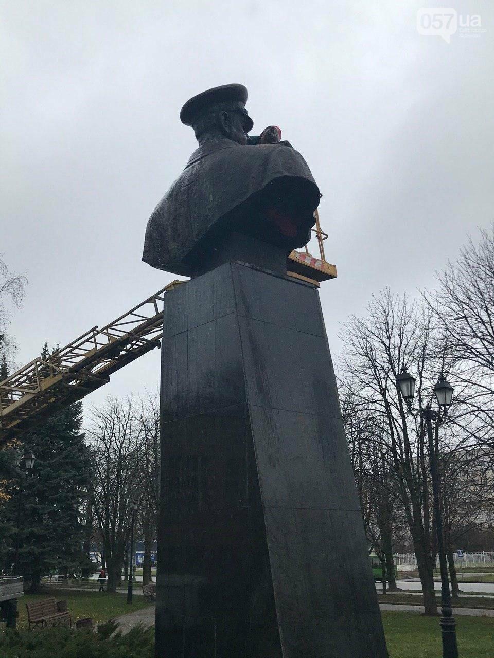 В Харькове неизвестные облили краской памятник Жукову, - ФОТО, фото-9