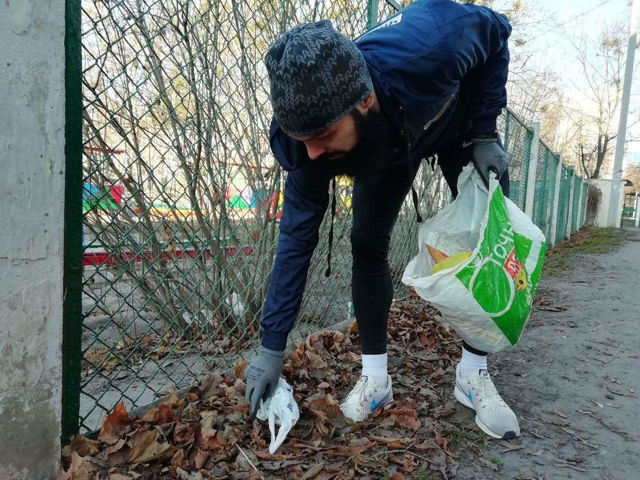 Харьковчанин собирает мусор во время пробежек. Интервью с «Бегущей бородой», - ФОТО, фото-3