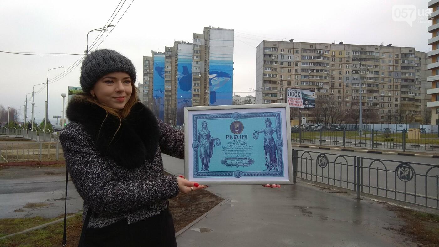 Харьковский мурал с китами признали самым большим в Украине, - ФОТО, фото-8