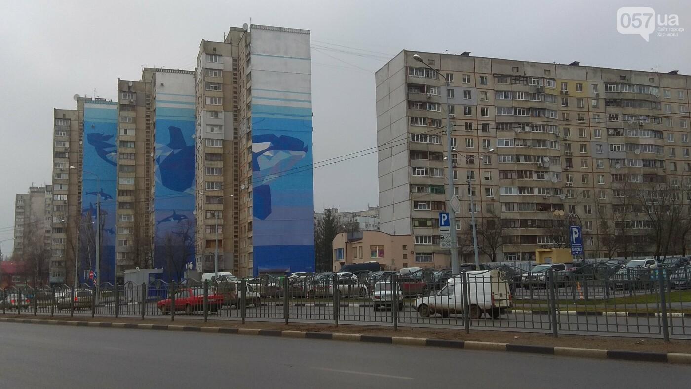 Харьковский мурал с китами признали самым большим в Украине, - ФОТО, фото-3