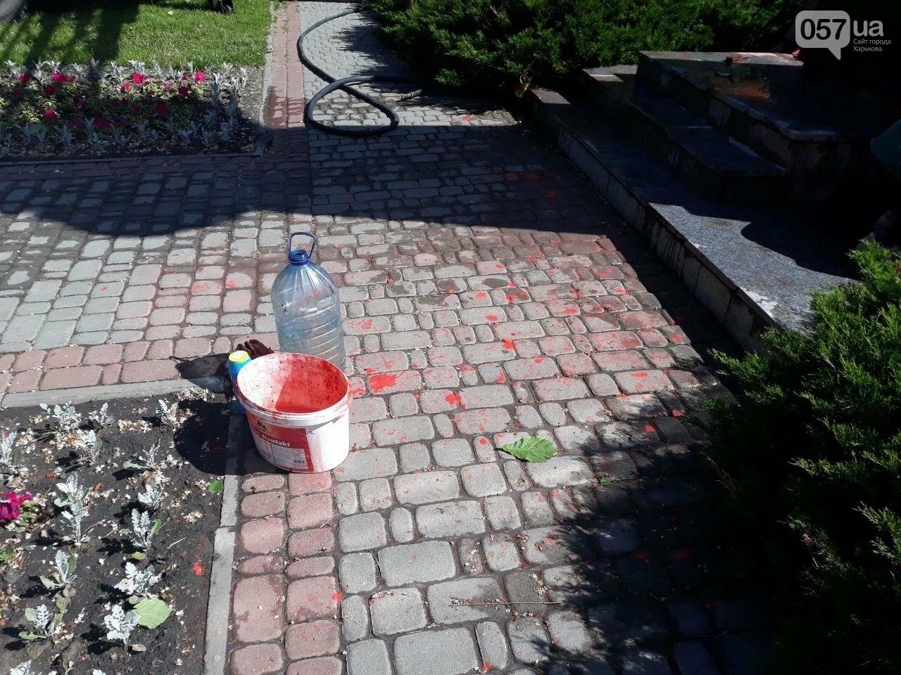 В Харькове неизвестные вновь облили красной краской памятник Жукову, - ФОТО, фото-14
