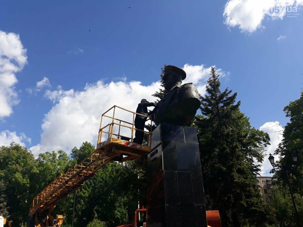 В Харькове неизвестные вновь облили красной краской памятник Жукову, - ФОТО, фото-5