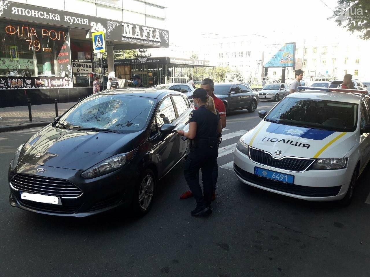 """На """"Пушкинской"""" легковое авто сбило пешехода на """"зебре"""": пострадавший в больнице, - ФОТО, фото-10"""
