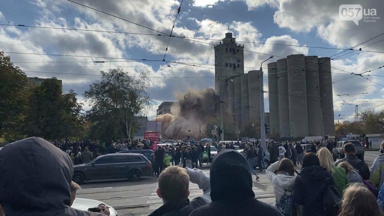 Во время сноса элеватора в Харькове часть старого здания устояла, - ФОТО, фото-2