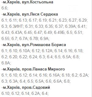 Отключения света в Харькове: график на 24-27 ноября , фото-6