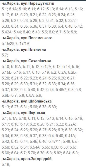 Отключения света в Харькове: график на 1-4 декабря , фото-7