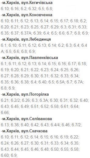 Отключения света в Харькове: график на 1-4 декабря , фото-2