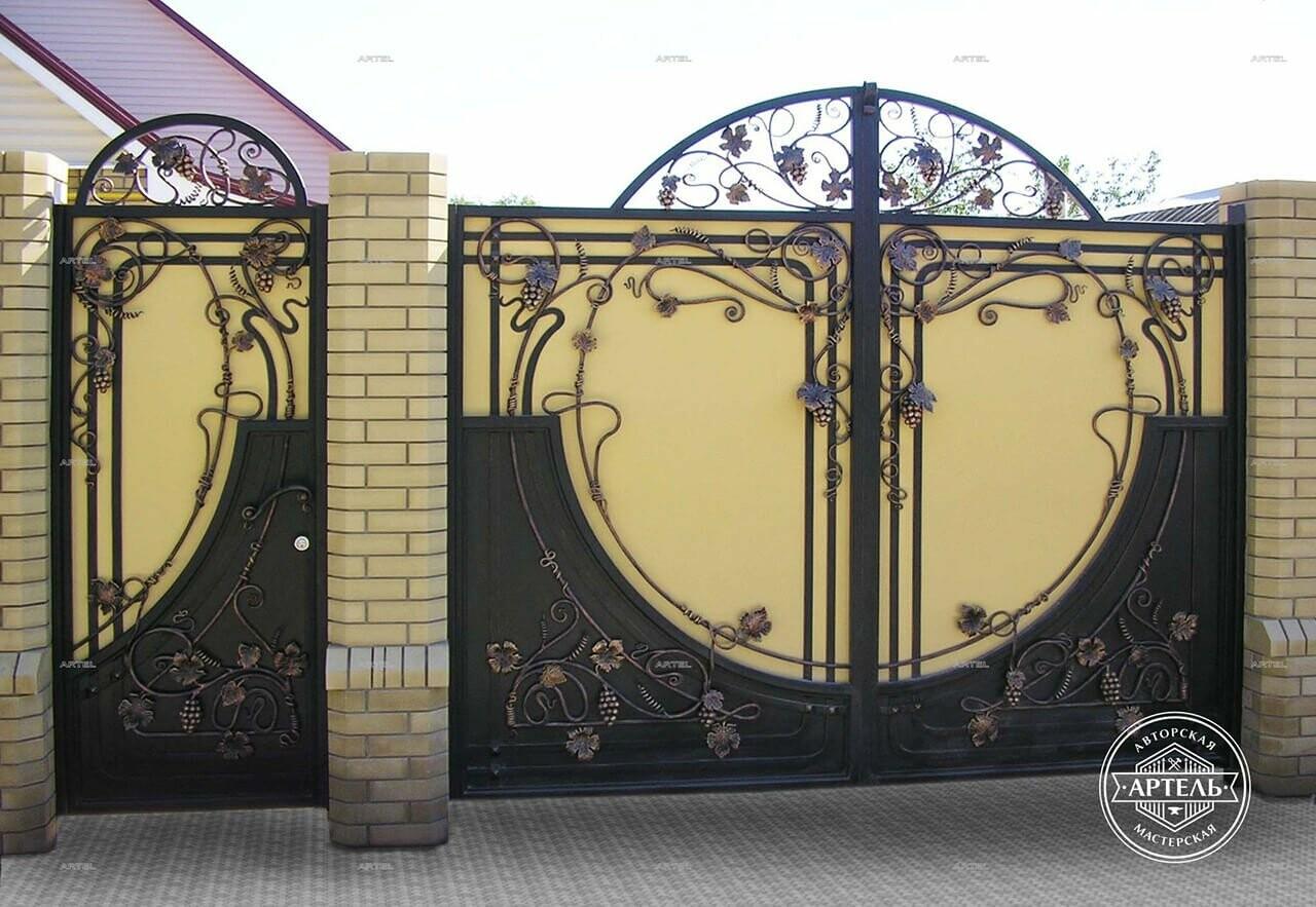 Кованые ворота в Киеве: какой тип ворот заказать?, фото-4