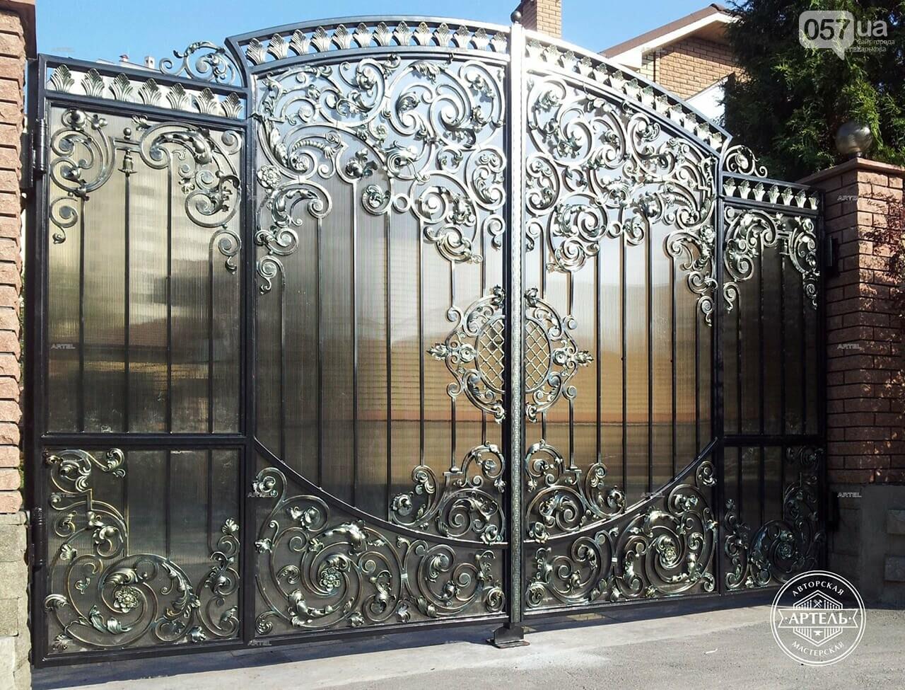 Кованые ворота в Киеве: какой тип ворот заказать?, фото-2