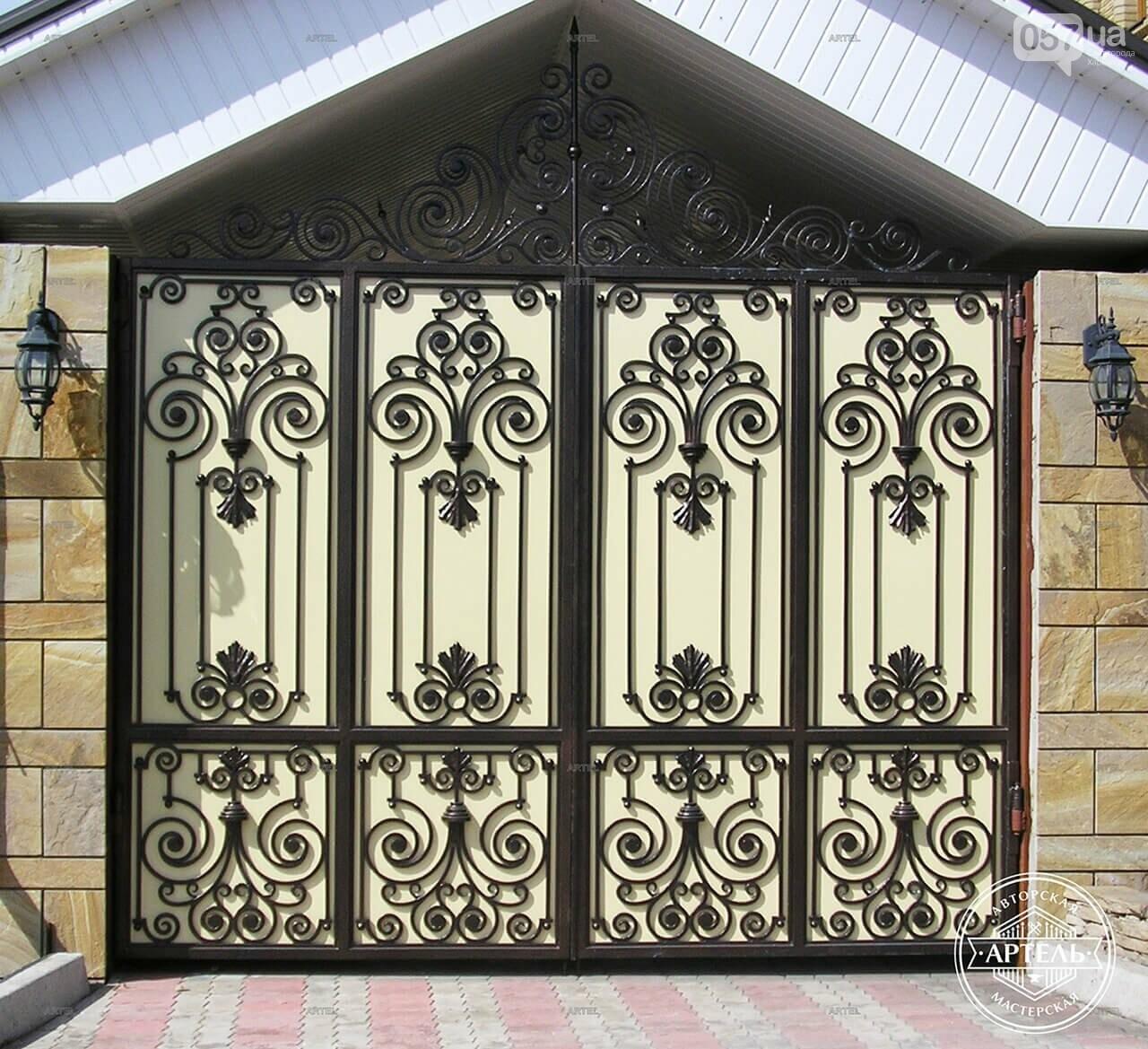 Кованые ворота в Киеве: какой тип ворот заказать?, фото-3