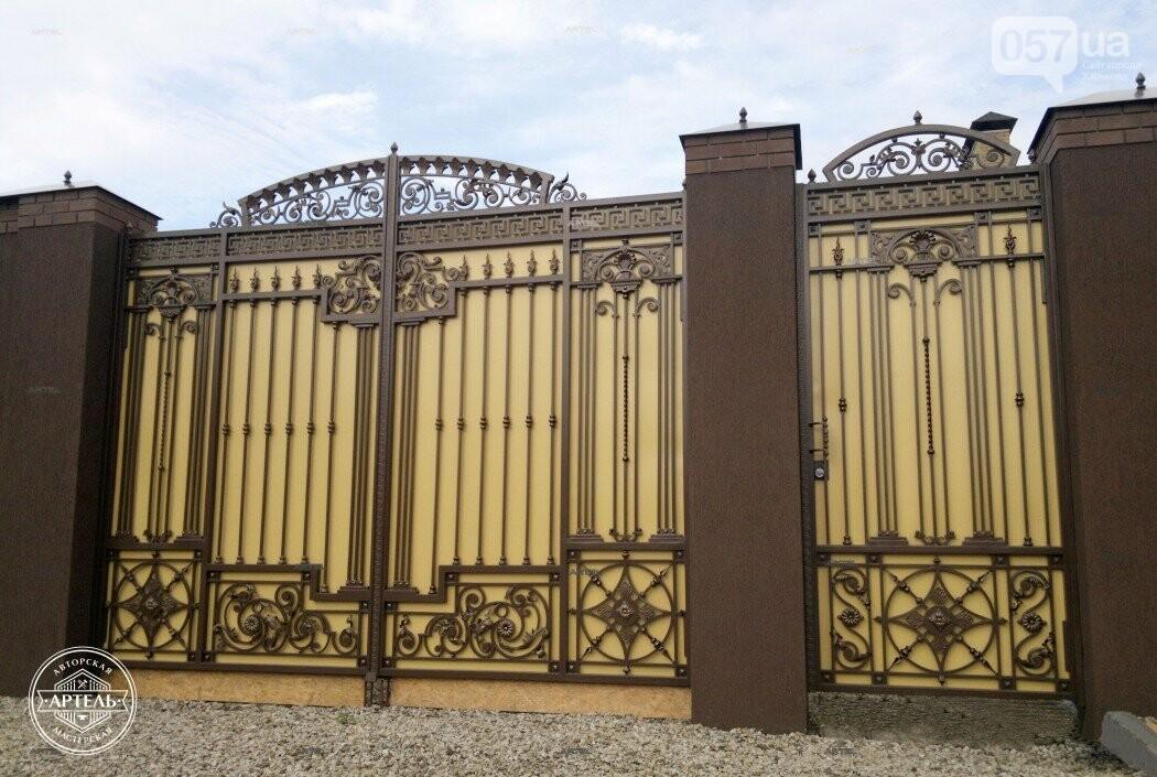 Кованые ворота в Киеве: какой тип ворот заказать?, фото-5