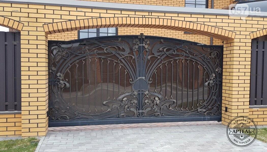 Кованые ворота в Киеве: какой тип ворот заказать?, фото-1