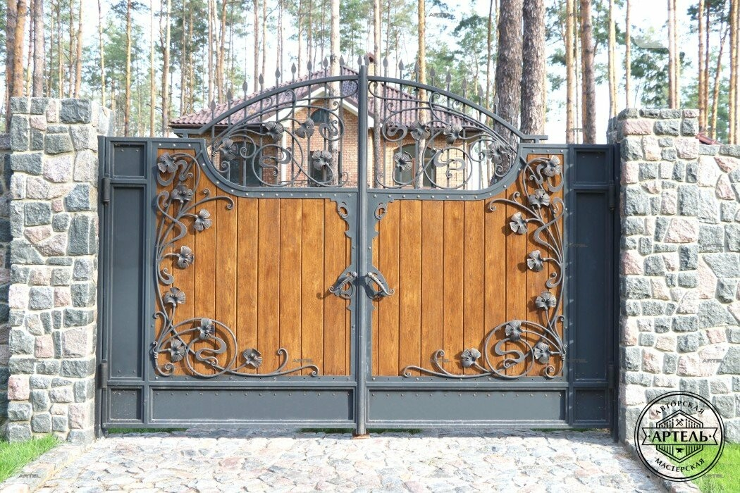 Кованые ворота в Киеве: какой тип ворот заказать?, фото-8