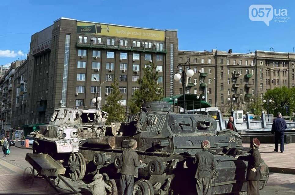 Немецкие танки на улицах и зенитки на площади Свободы: как сегодня выглядят места сражений за Харьков, - ФОТО, фото-1