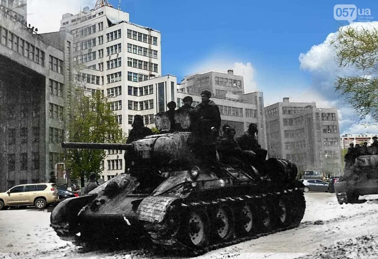 Немецкие танки на улицах и зенитки на площади Свободы: как сегодня выглядят места сражений за Харьков, - ФОТО, фото-12