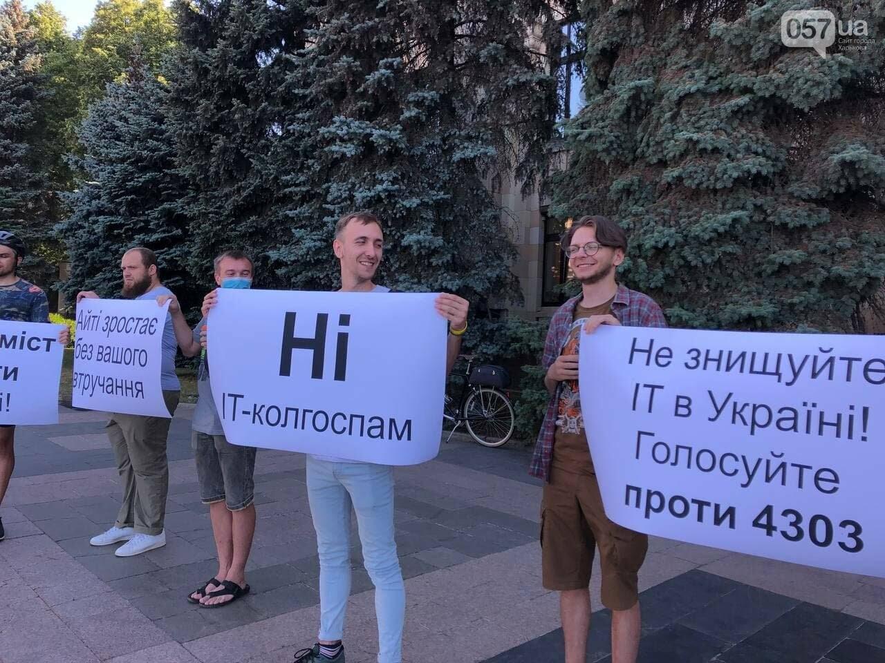 «Не уничтожайте IT в Украине»: в центре Харькова митинговали программисты, - ФОТОРЕПОРТАЖ, фото-8