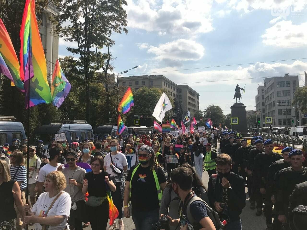 «Нет важней любви». Как в центре Харькова прошел ЛГБТ-марш, - ФОТОРЕПОРТАЖ, фото-6