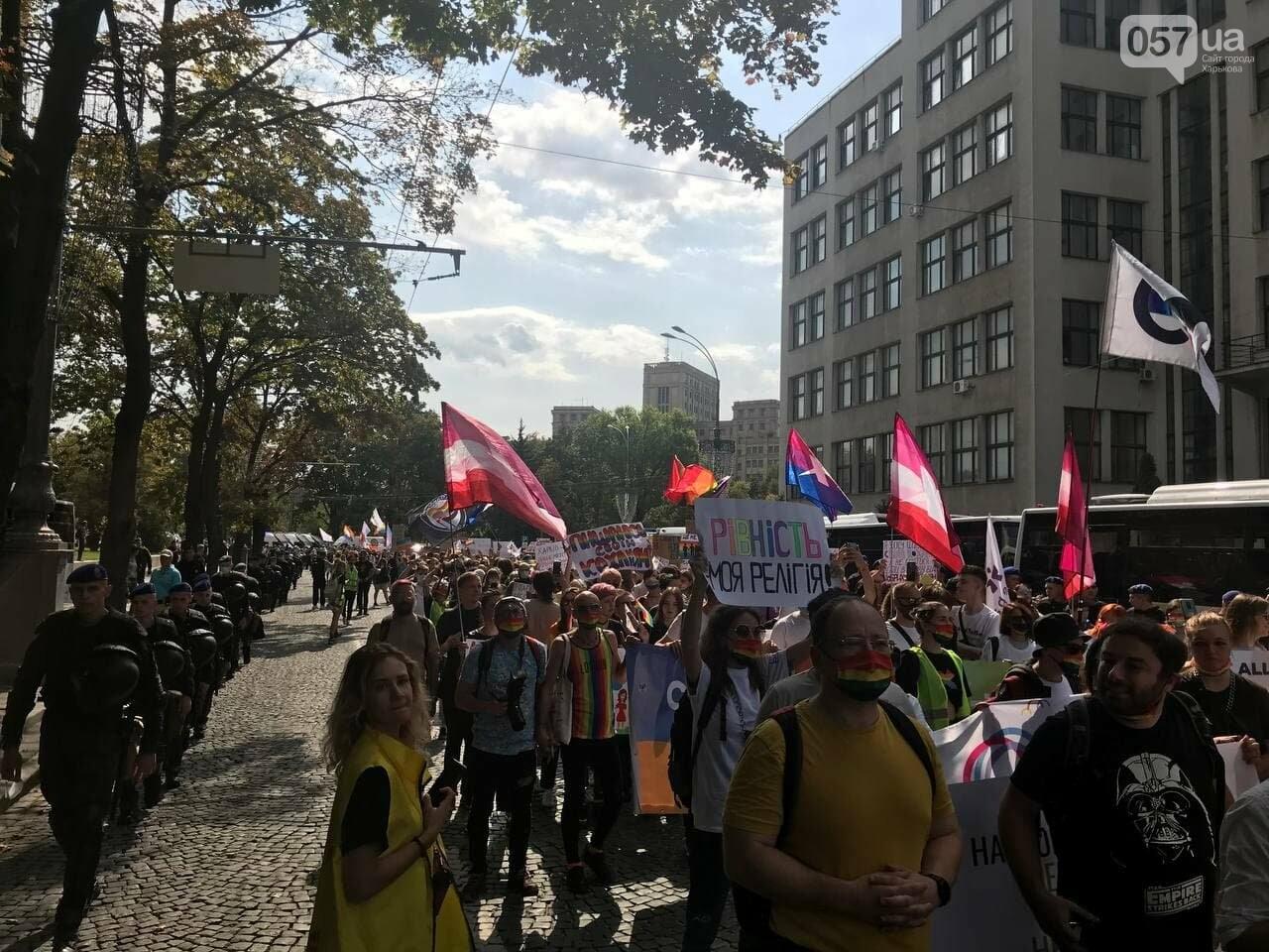 «Нет важней любви». Как в центре Харькова прошел ЛГБТ-марш, - ФОТОРЕПОРТАЖ, фото-12