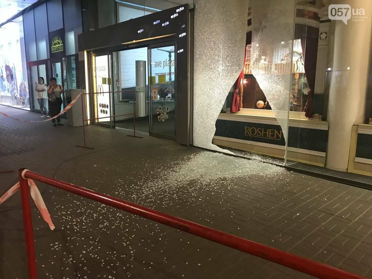 В центре Харькова неизвестные разгромили витрину ТЦ, - ФОТО, фото-1