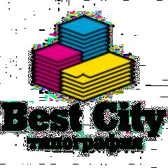 Логотип - Best city, типография