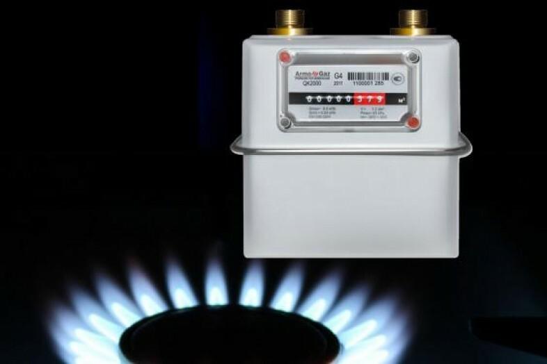 Показание счетчика за газ