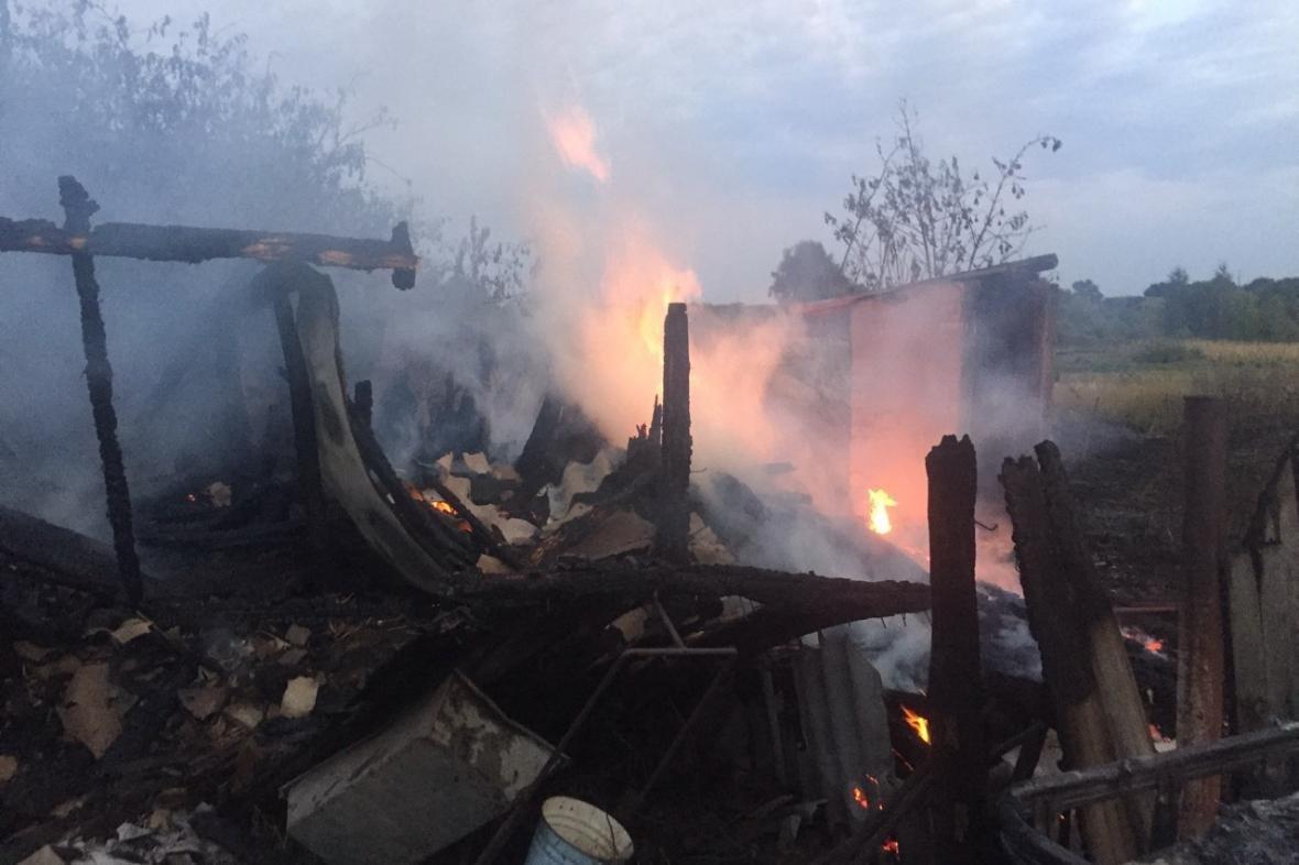 В Харьковской области пострадал мужчина, пытаясь потушить пожар (ФОТО), фото-1